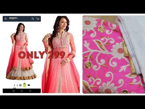 Amazon gown unboxing|affordable anarkali gown|gown for rs 299|online ...