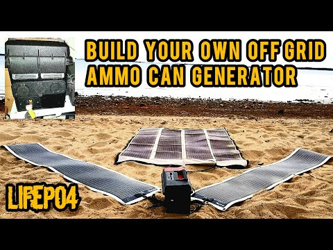 DIY 576 watt hour Portable Solar Power Generator