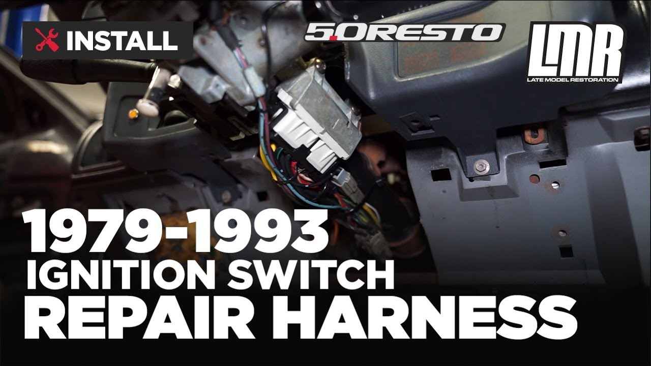 small resolution of 1979 1993 mustang 5 0 resto ignition switch repair harness install review