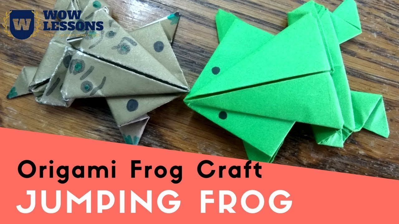 Paper frog jumping frog how to make jumping frog with paper paper frog jumping frog how to make jumping frog with paper easy must watch jeuxipadfo Images