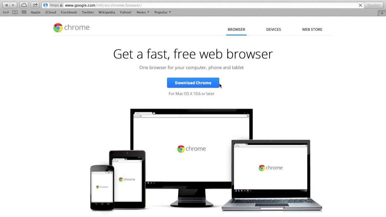 download google chrome mac os x 10.8