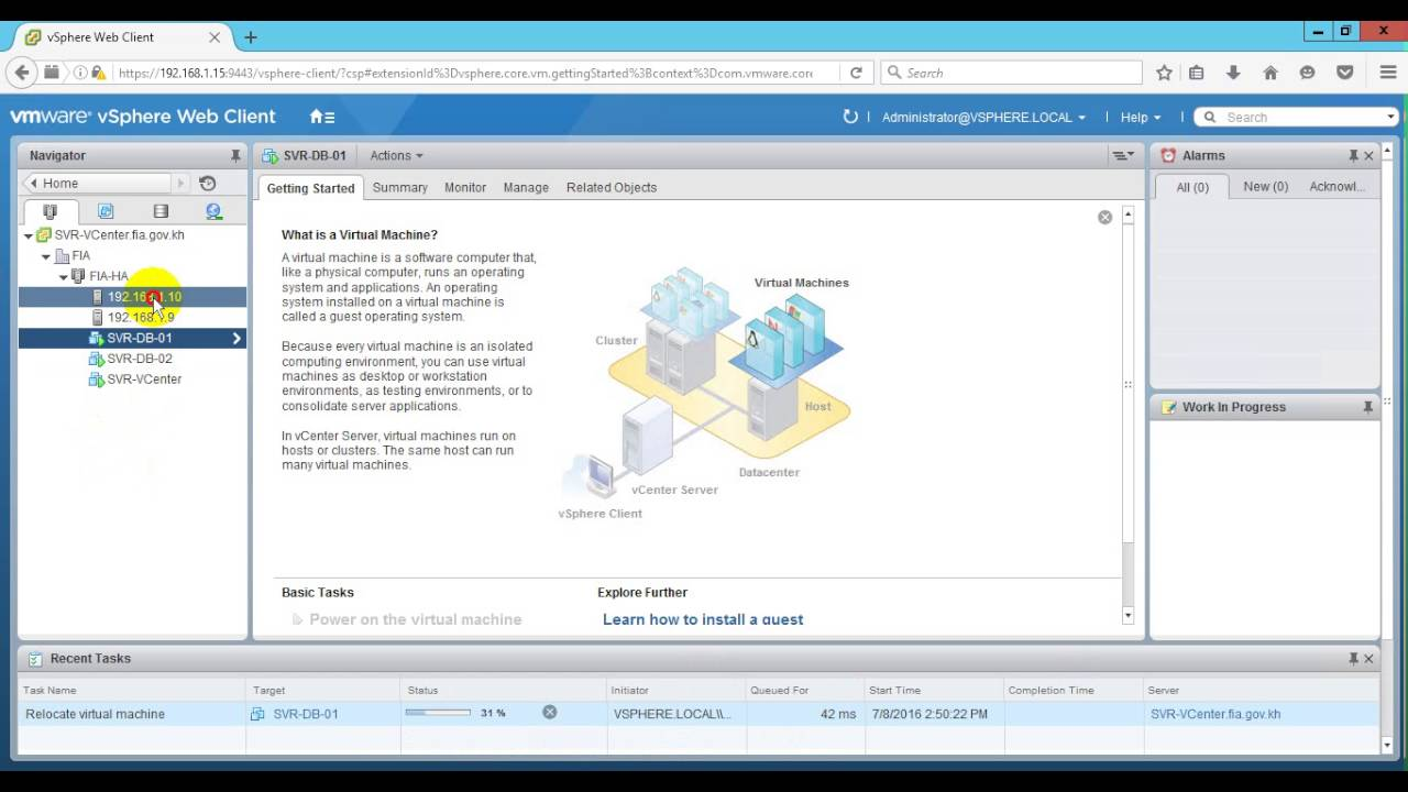 08-02 How to move vm and vm data to anther datastore on Web Cient