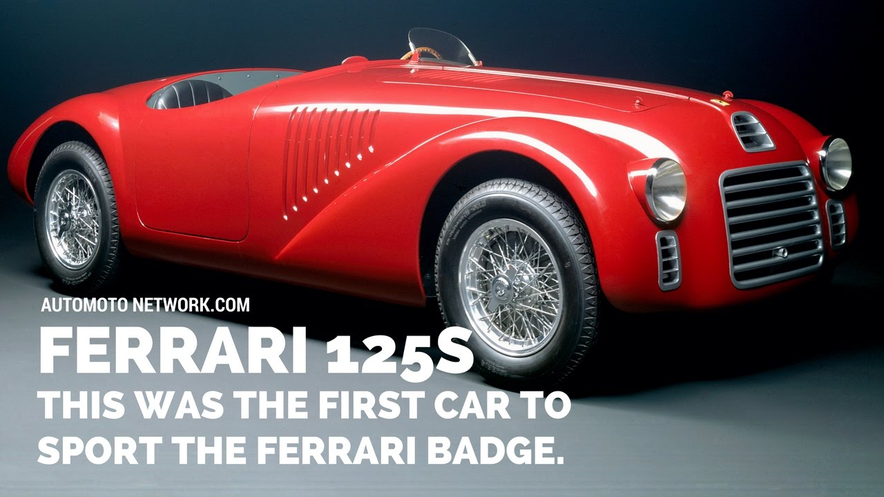 Ferrari S Anniversary Celebration For It First Car 125s