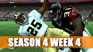 NOT THIS WEEK NOT THIS TEAM - FALCONS FRANCHISE - MADDEN 07 PS2 S4W4