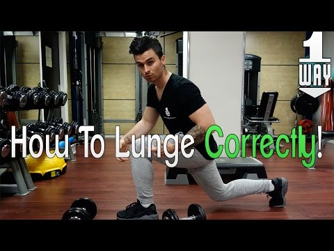 How To Do (Dumbbell) Lunges Correctly