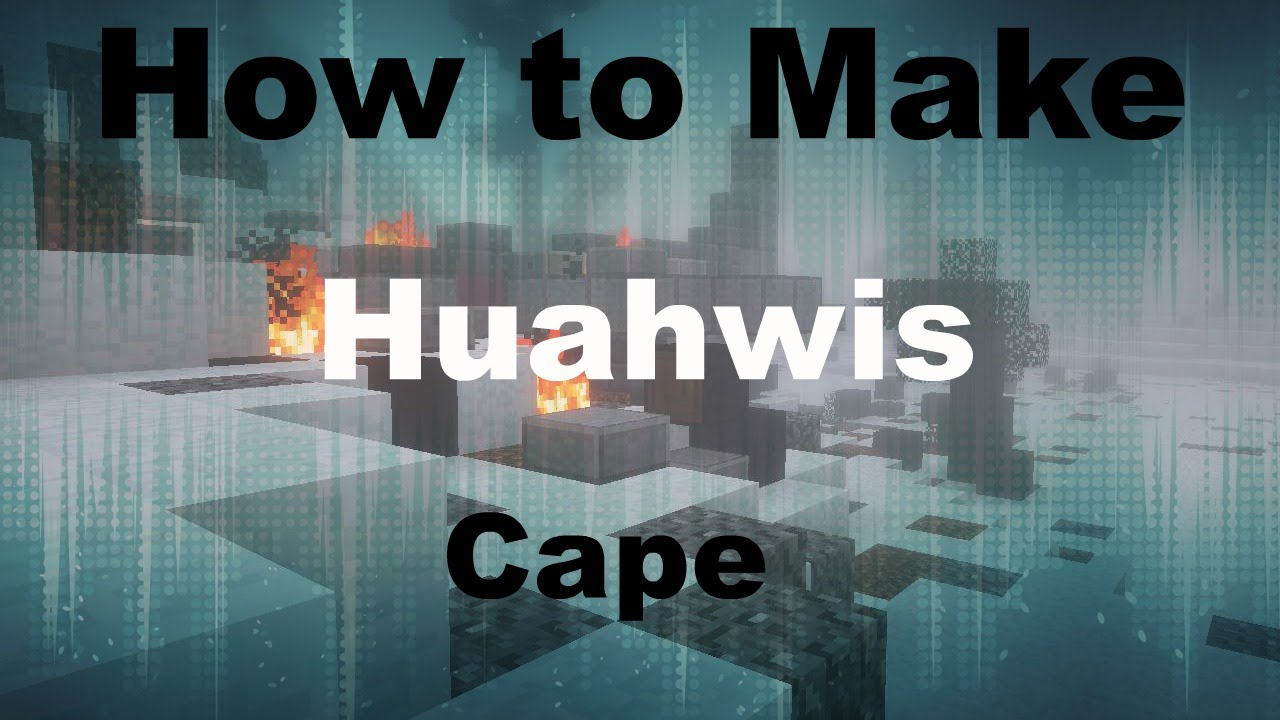 Minecraft - How to Make Huahwis Banner Heart Cape