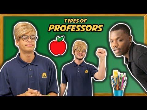 TYPES OF COLLEGE PROFESSORS