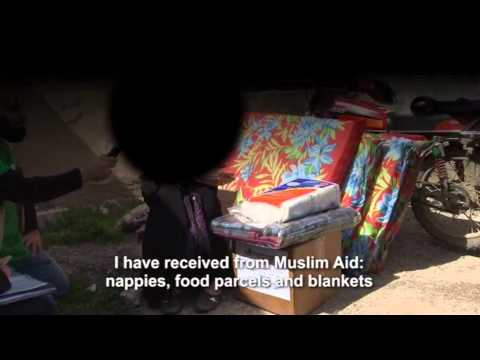 Muslim Aid - SYRIA CRISIS. Distribution of aid to Syrian refugees in Jordan and Lebanon