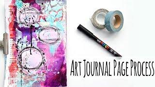 Unintentional Art - Mixed Media Art Journal Page