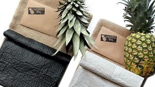 A designer uses pineapples to make vegan leather - YouTube