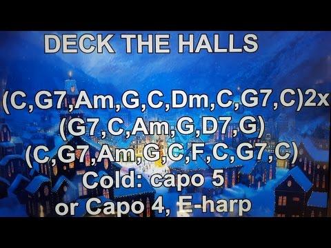 DECK THE HALLS - Lyrics - Chords - NO AUDIO !!!
