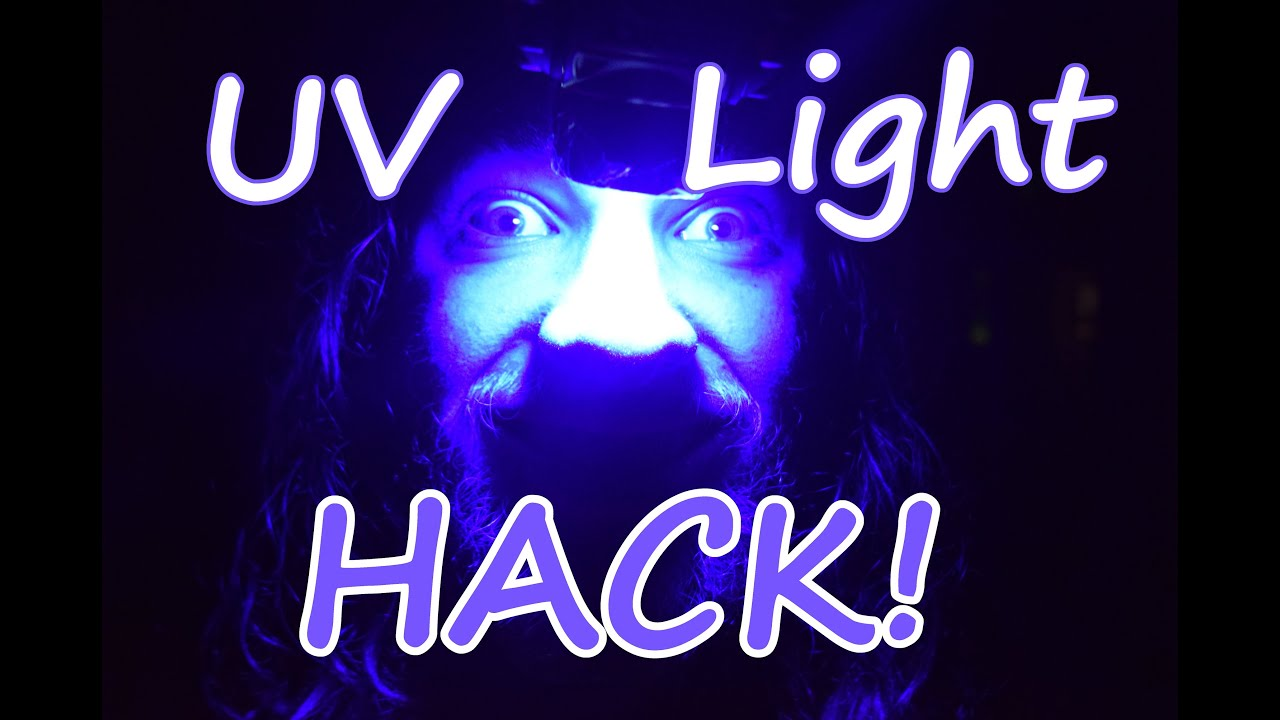 Phone Light To UV Light Hack!! (Works With Other Lights Too!!)   YouTube