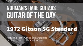 Norman's Rare Guitars - Guitar of the Day: 1972 Gibson SG Standard Walnut
