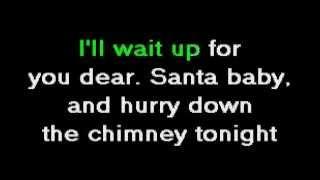 karaoke santa baby.avi