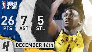 Victor Oladipo Full Highlights Pacers vs Knicks 2018.12.16 - 26 Pts, 7 Ast, 5 Steals!