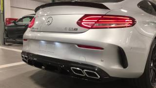 Mercedes C63s AMG Coupe Edition 1 Silver Startup (Exhaust Sound)
