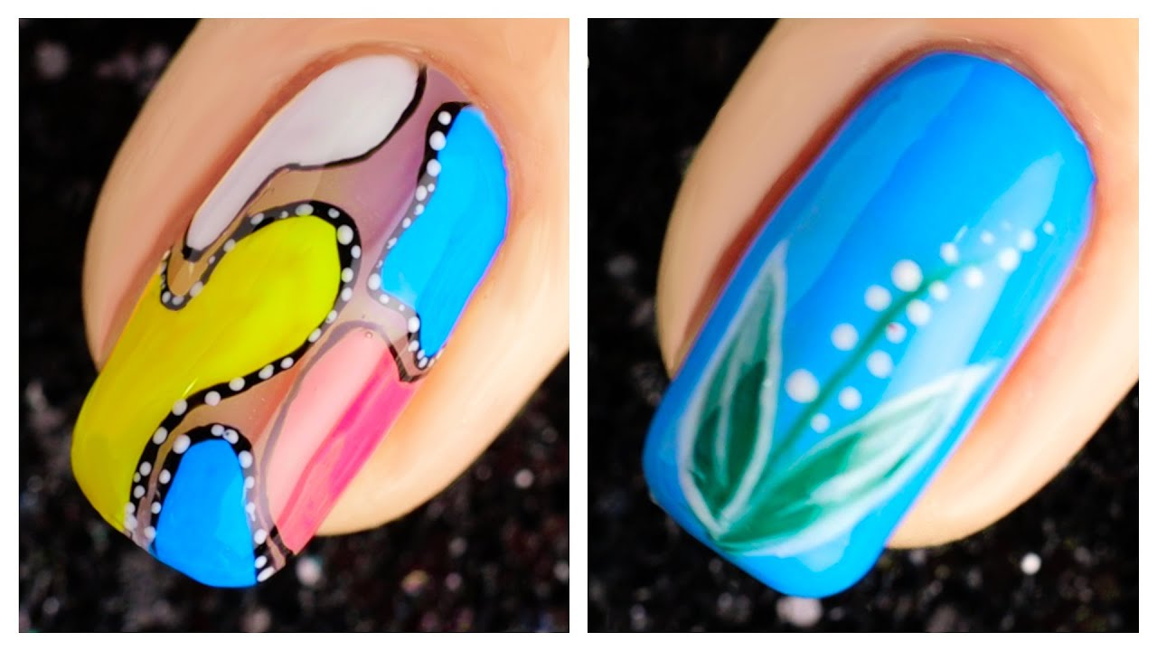 Simple Nail Art Design 2019 Compilation   Cute Nails Art Ideas For ...