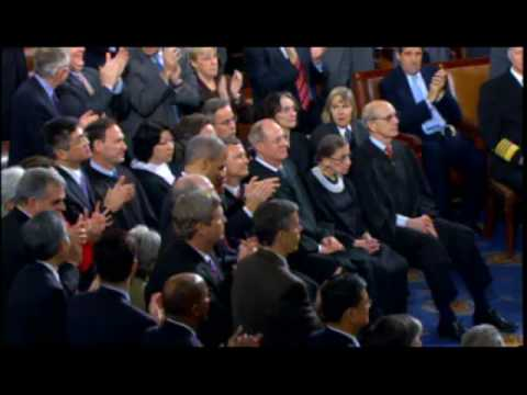 Alito Caught Reacting to Obama Remarks?