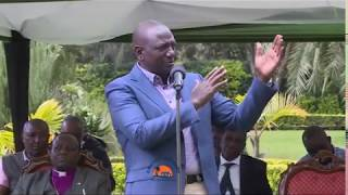 STOP BLACKMAILING MY POINT MEN LEF RIGHT AND CENTRE!! WILLIAM RUTO WARNS THE SYSTEM