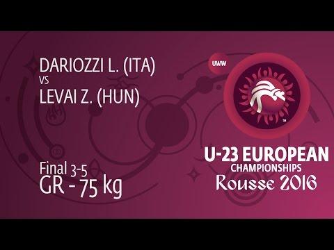 BRONZE GR - 75 kg: Z. LEVAI (HUN) df. L. DARIOZZI (ITA) by TF, 8-0