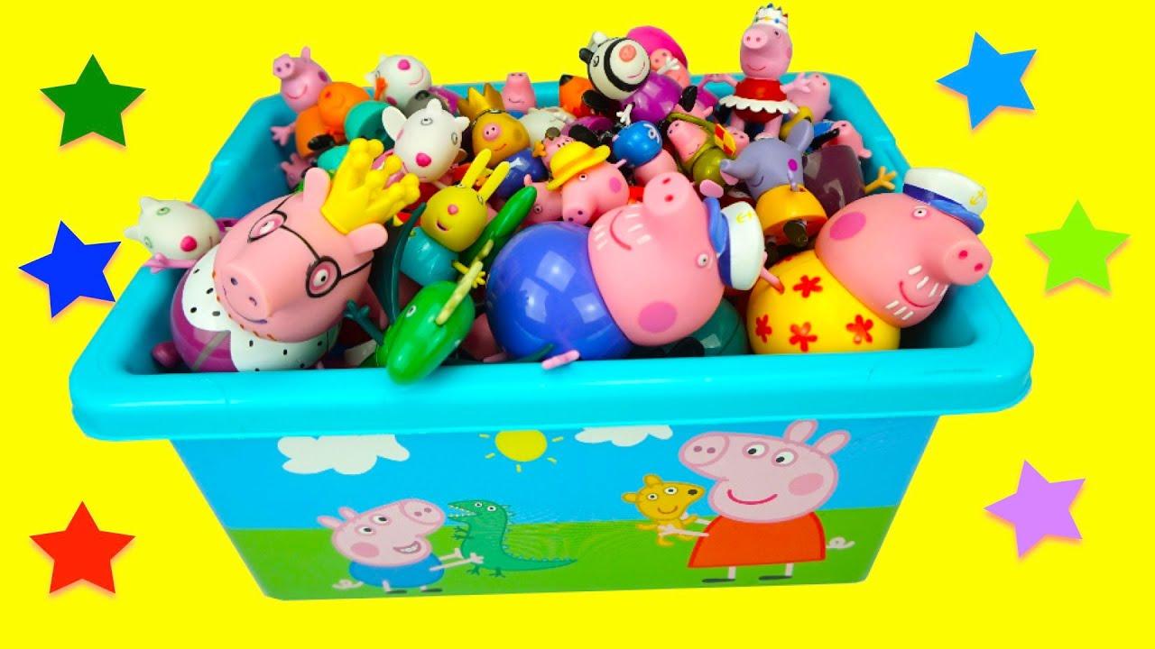 Свинка Пеппа игрушки, сюрпризы и поделки.