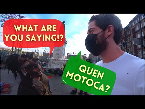 Gringo Speaks NAHUATL On The Streets of Mexico!  How Did They React?