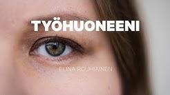 Kirjailija Elina Rouhiainen esittelee työhuoneensa 360 asteen videolla