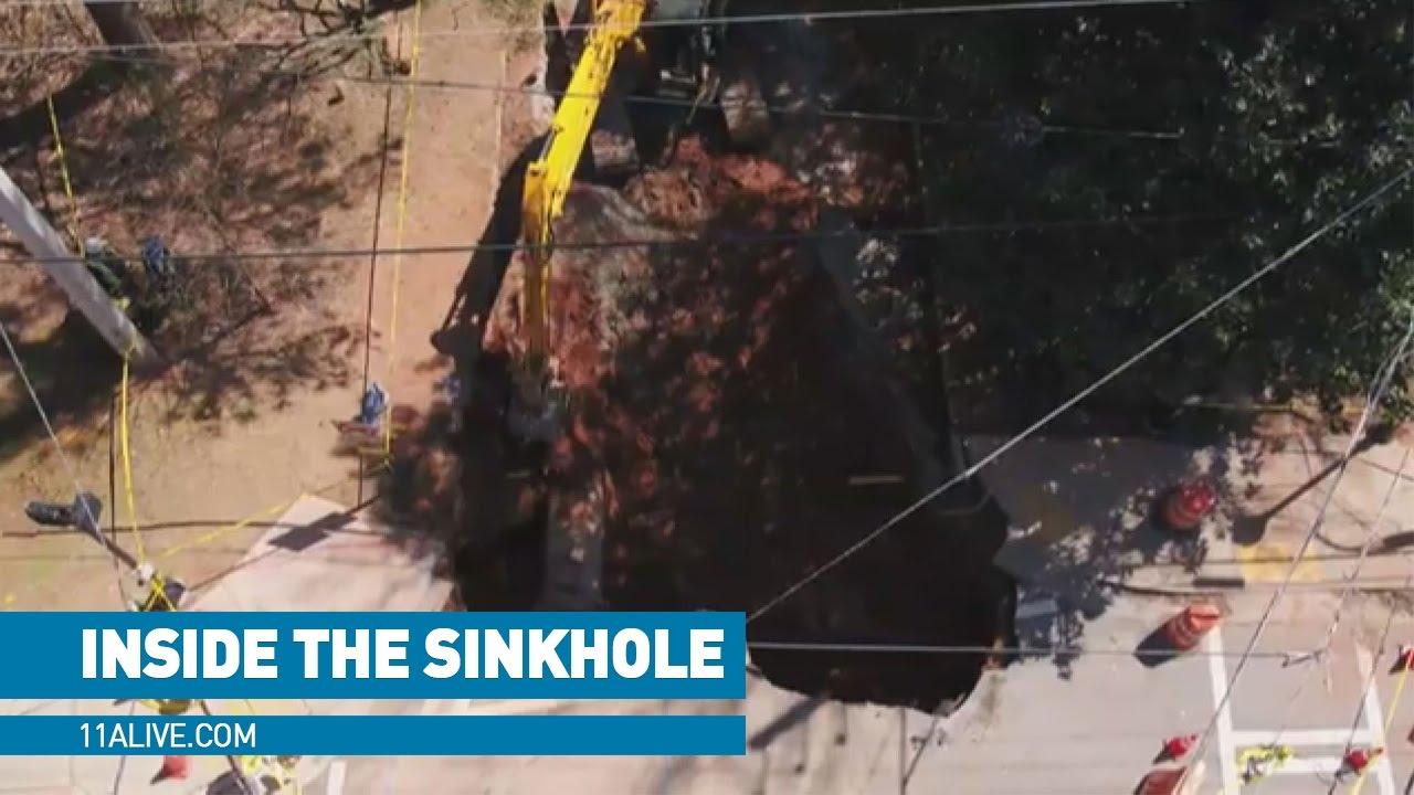 Drone takes you inside MASSIVE sinkhole - YouTube