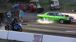 Muscle Car vs Superbike - drag racing from 604 Street Legit