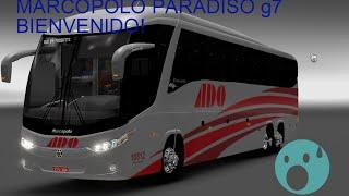 Primer video,Bienvenidos a Bordo! /Euro Tuck Simulator 2/Marcopolo g7 1200/Ado