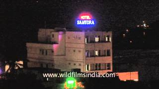 Night view of Hotel Samudra in Kovalam - Kerala