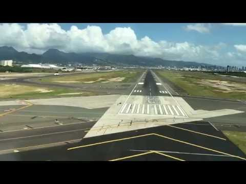 A340-300 Landing Honolulu