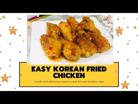 FAMOUS KOREAN FRIED CHICKEN || MY EASY STYLE OF COOKING || SUPER CRUNCH