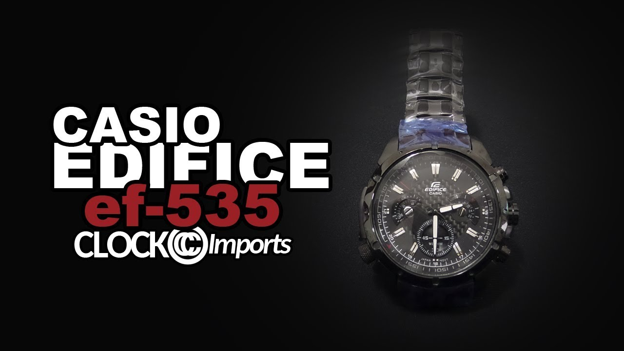 dca8a1071bd9 Relógio Casio Edifice ef 535 preto - YouTube