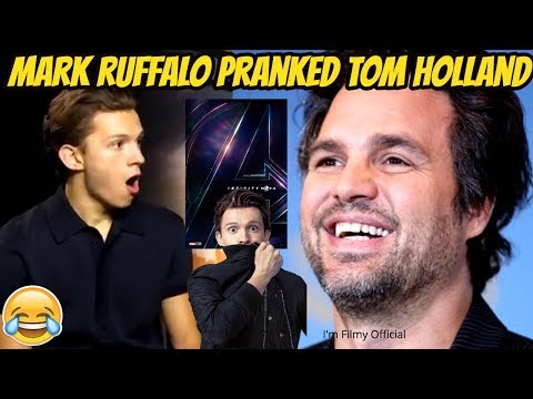 Tom Holland got Pranked by Mark Ruffalo  Leaks Avengers Infinity War  2017