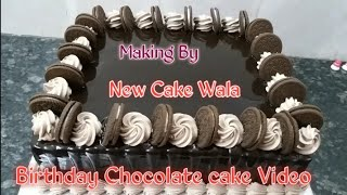 How to make Chocolate cake best decorations cake making by New Cake Wala
