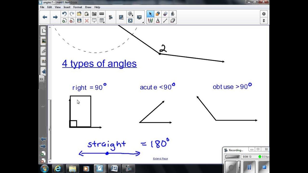 Angles Lesson One 7th Grade Math