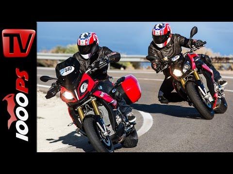 BMW S 1000 XR vs S 1000 R Test | Vergleich 2016 | BMW Motorrad Test-Camp Almeria 2016