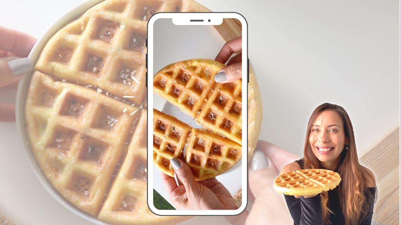 Keto Waffle [ 3 ingredientes]