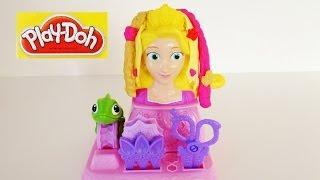 Play-doh Disney Princess Rapunzel Hair Designs Unboxing