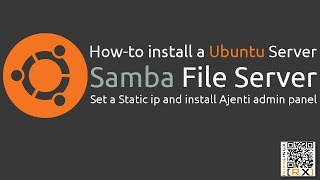 How-to install a Ubuntu Server Samba File Server Set a Static ip and install Ajenti admin panel [HD]