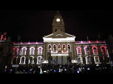 Festive Lights 2017 -   Video Mapping by Fabian Humphry - Cape Lasers