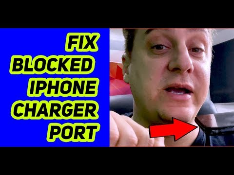 how to clean iPhone charging port - no tools required