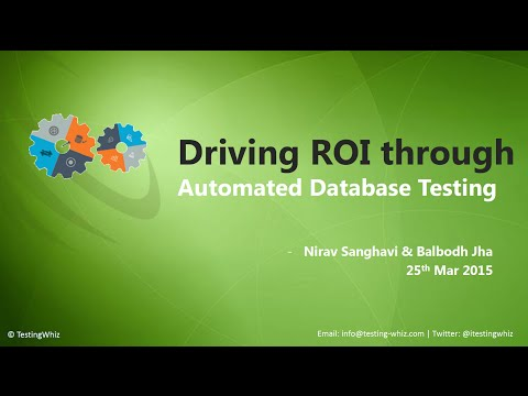 Webinar - Automated Database Testing to Maximize ROI with Te