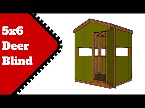 5x6 Deer Blind Plans