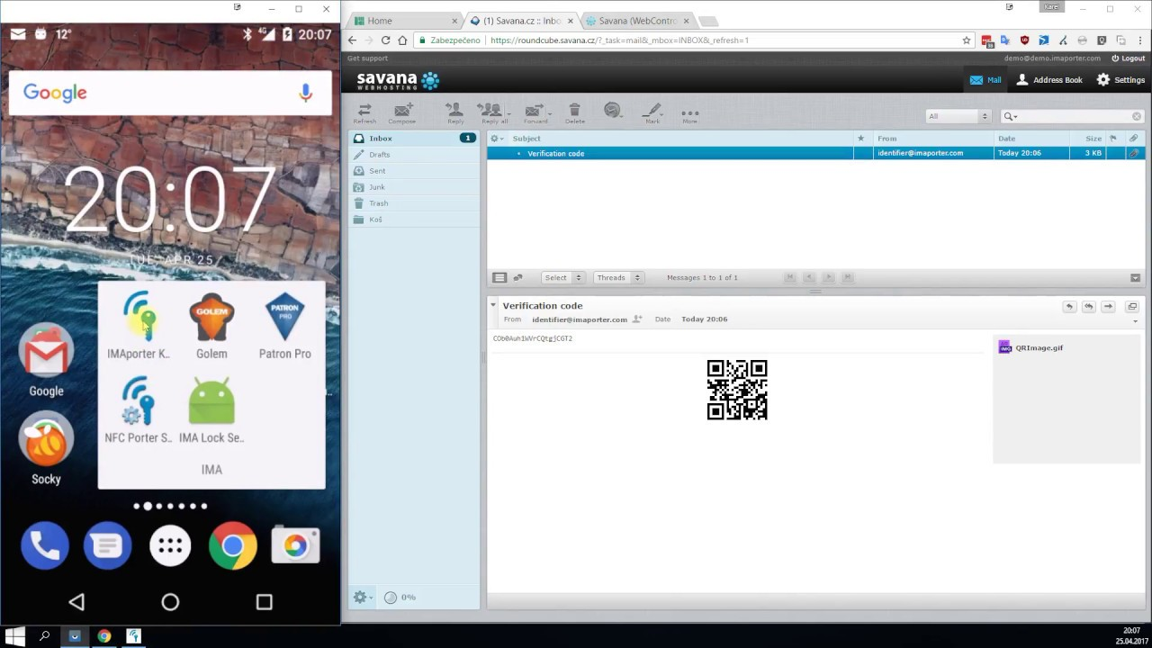 ID Management system for IMAporter MobileAccess Reader (NFC/BLE)
