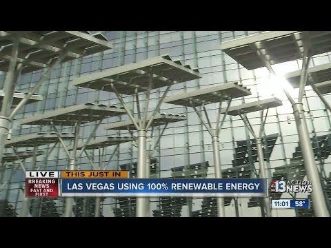 Las Vegas boasts about using renewable energy