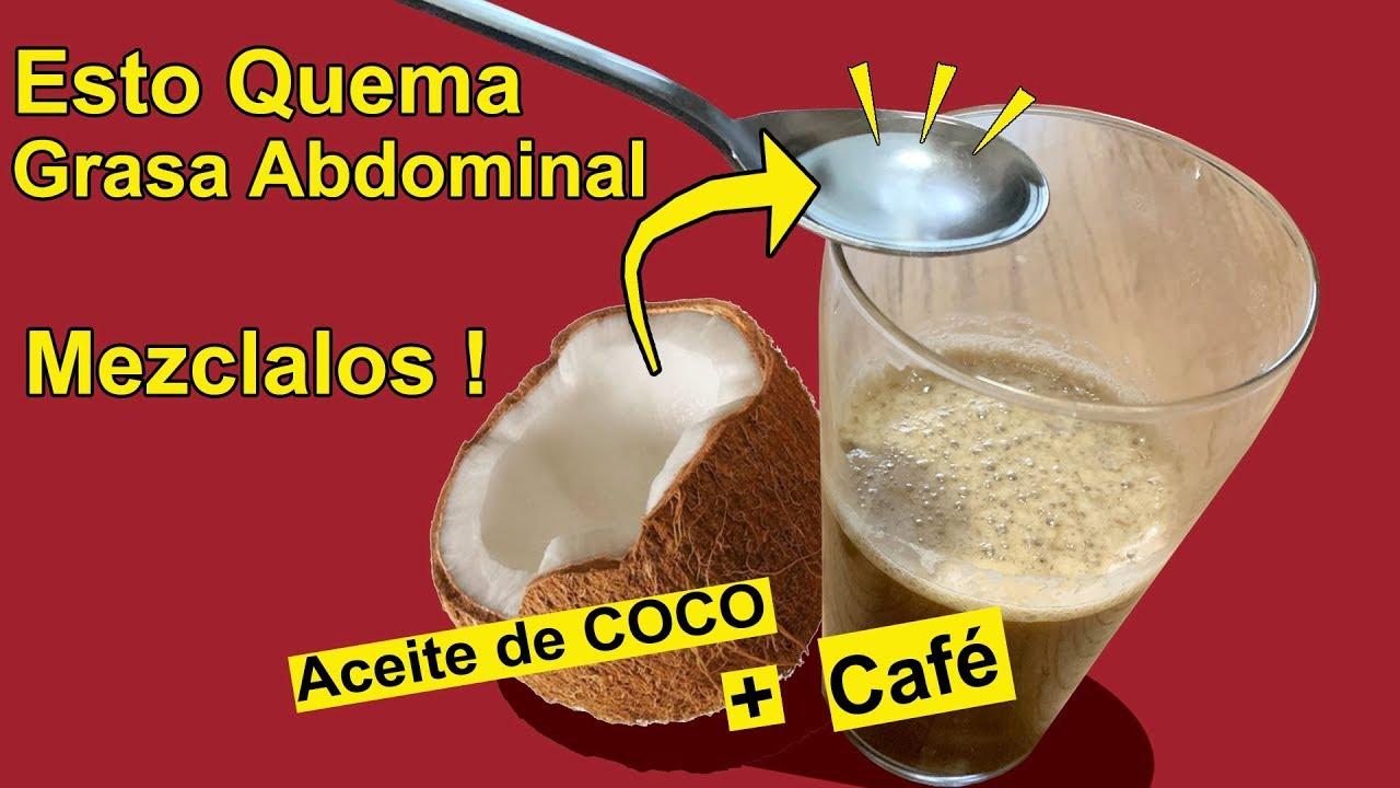 cafe quema grasa con aceite de coco