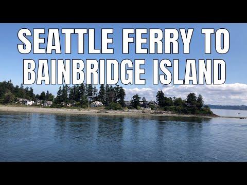 Seattle Ferry Tour/Ride To Bainbridge Island | Washington State Attraction | Puget Sound |Tourism 4k