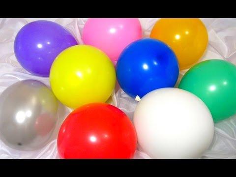 Учим цвета на английском языке с воздушными шариками ...